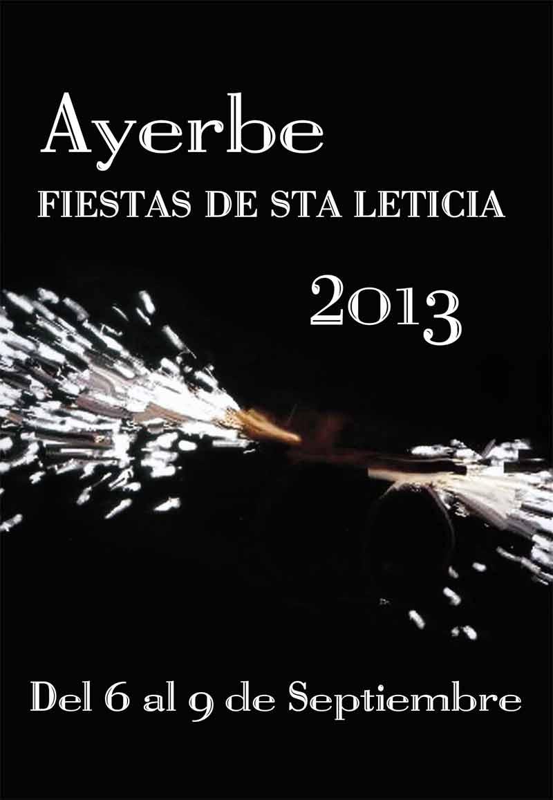 Programa de actos fiestas de Ayerbe 2013