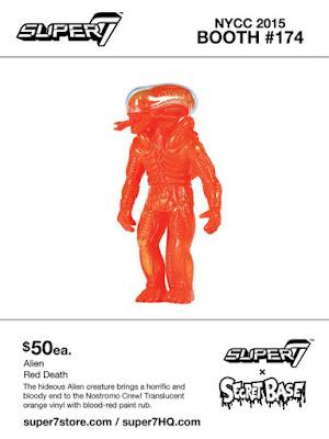 """New York Comic Con 2015 Exclusive """"Red Death"""" Alien Popy Vinyl Figure by Super7 & Secret Base"""