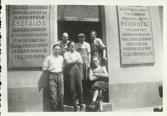 Budapesti asztalosműhely 1943.