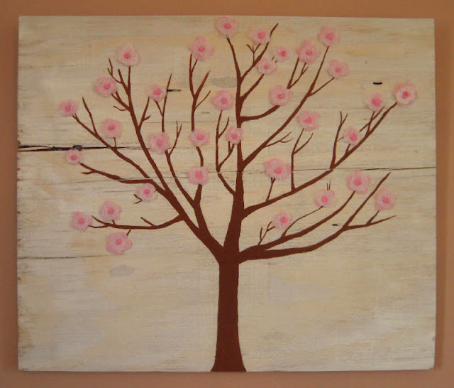 crafts for eastern new year: crab apple blossom art tutorial