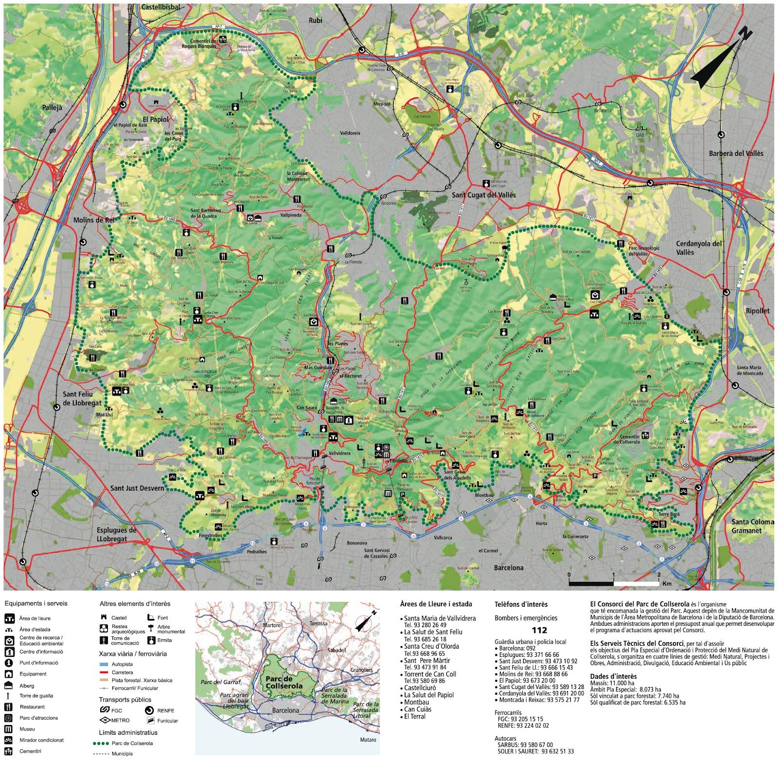 Mapa de Collserola