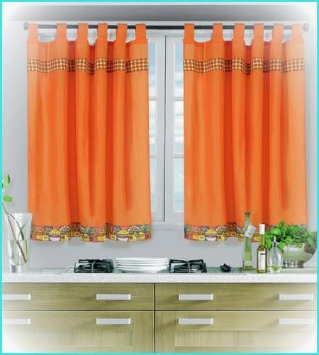 Visillos crochet y cortinas for Telas de cocina
