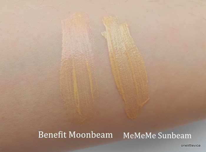 highlighter colour comparison dupe drugstore vs benefit