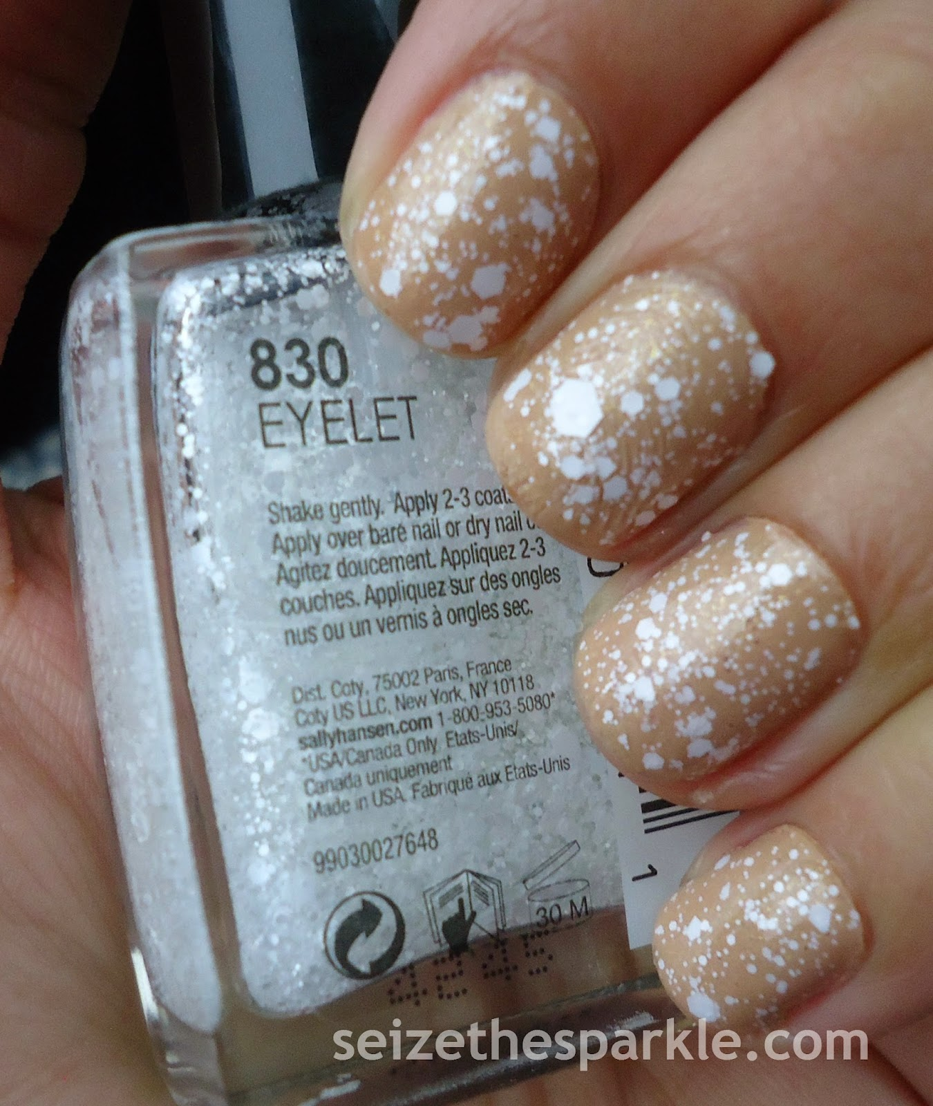 Sally Hansen Eyelet over Rainbow Honey Cafe Con Leche