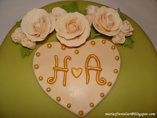 Cake topper bröllopstårta