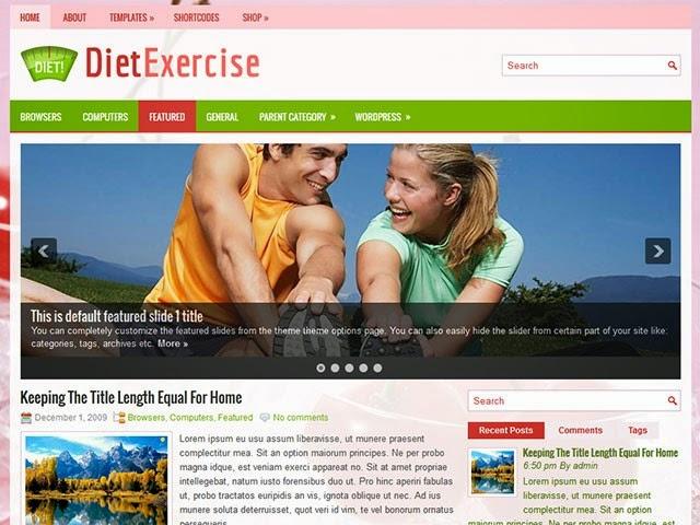 DietExercise - Free Wordpress Theme
