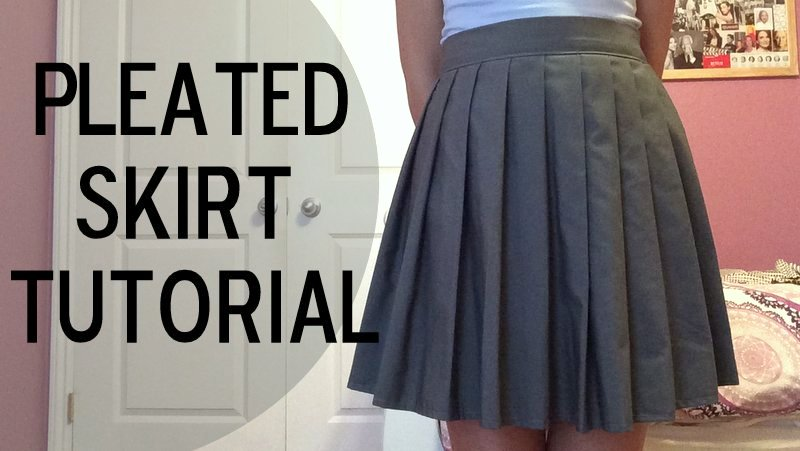 A Style Blog of Some Sort: How To: Sew a Pleated Skirt!