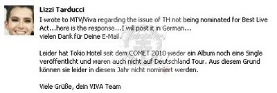 The reason why TH are not named in the Comet Awards 2011 Reason