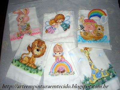 pintura em tecido infantil fralda para bebe