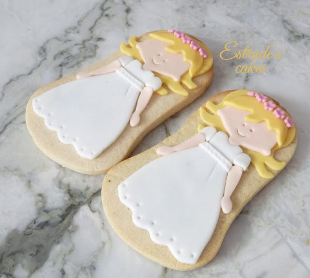 galletas de niña de Comunión rubia 3