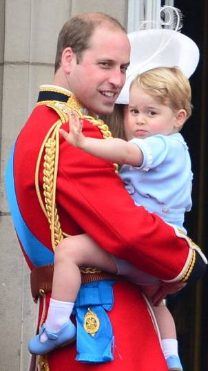Prince George Makes Appearance at Trooping of the Colour