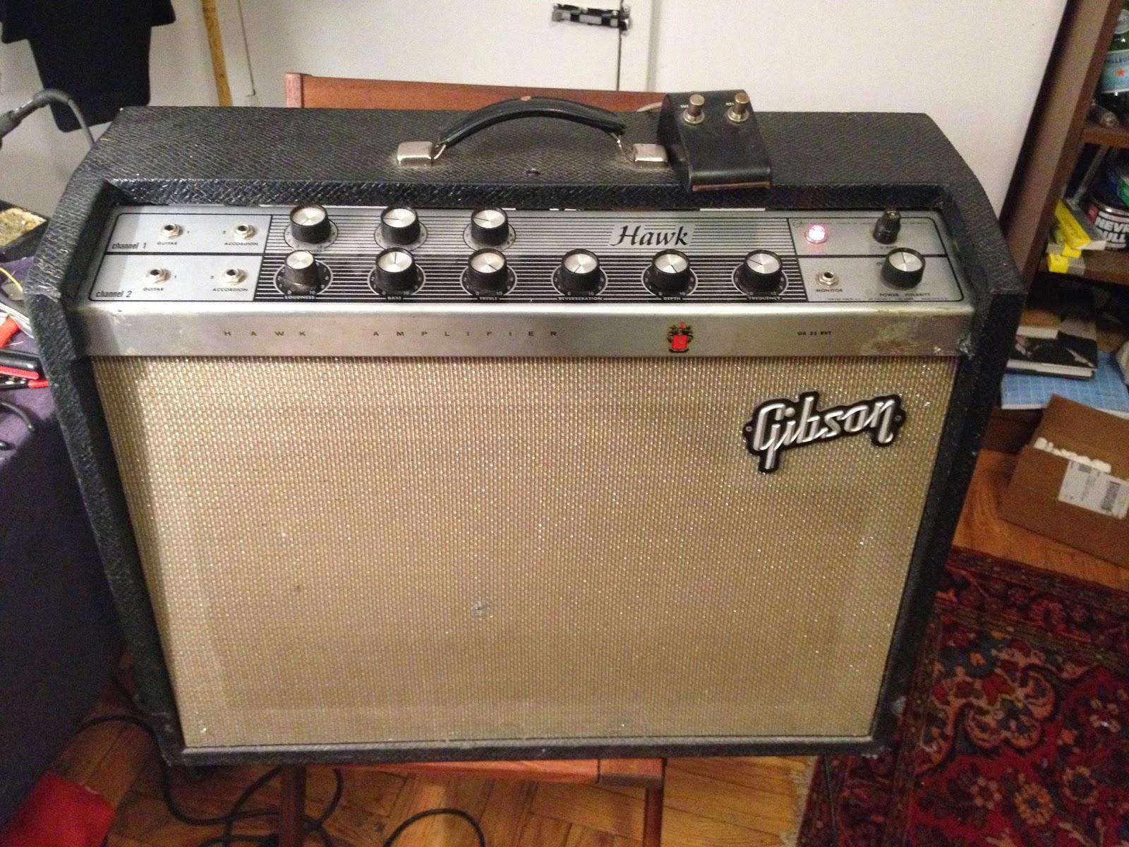 Jefs Tube Amp Blog 1965 Gibson Hawk Amplifier 7591 Model Comet Epiphone Guitar Schematic