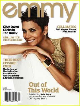 chatter busy halle berry on the cover of emmy magazine. Black Bedroom Furniture Sets. Home Design Ideas
