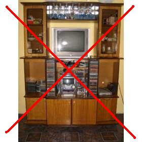 Cambia los antiguos muebles