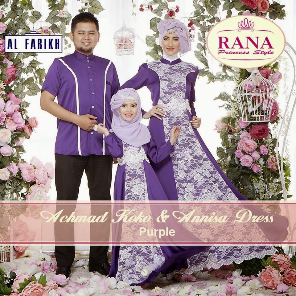 Rumah Hijab Savana Annisa Dress Achmad Koko Family Set