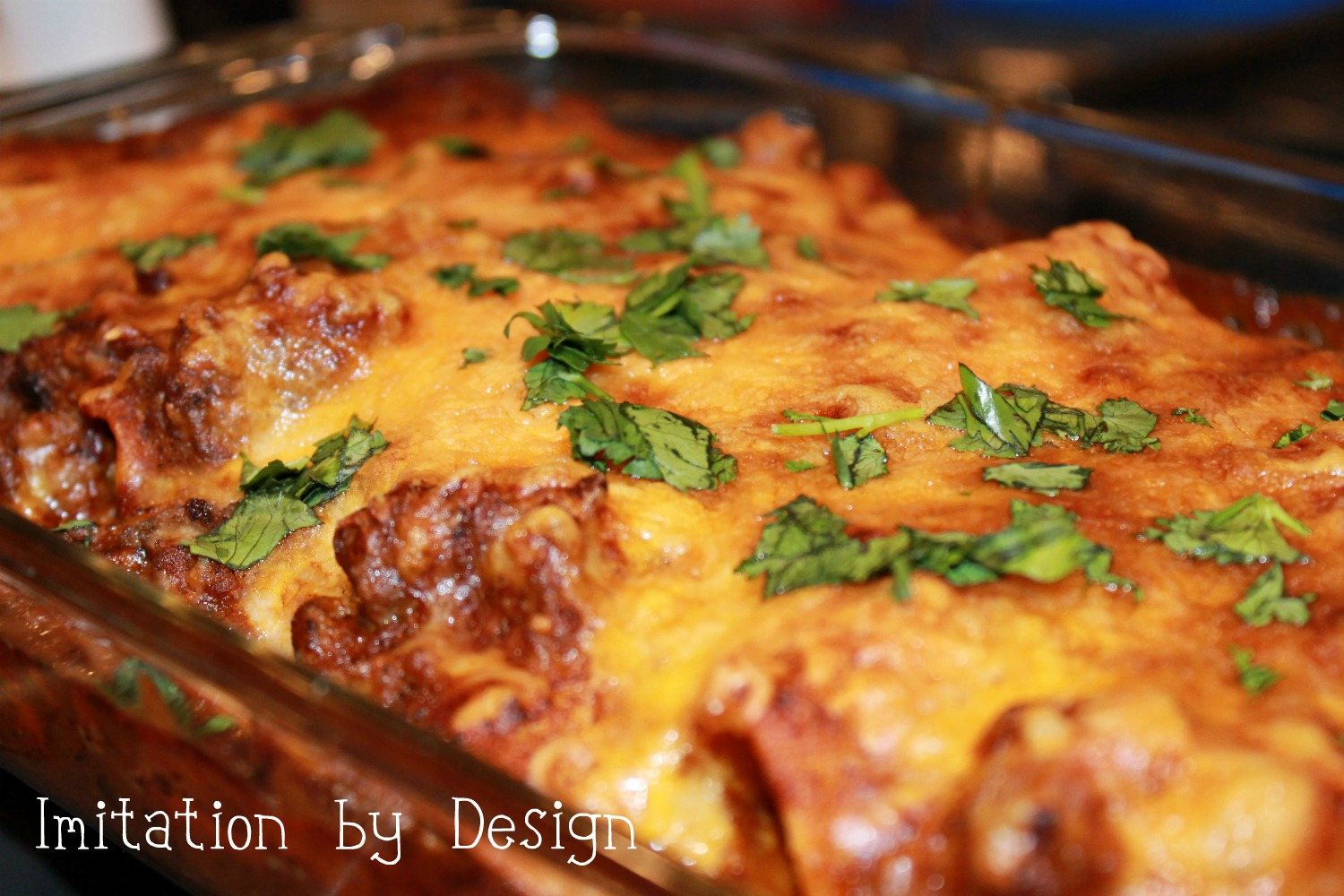 Imitation by Design: Tex-Mex Beefy Enchiladas