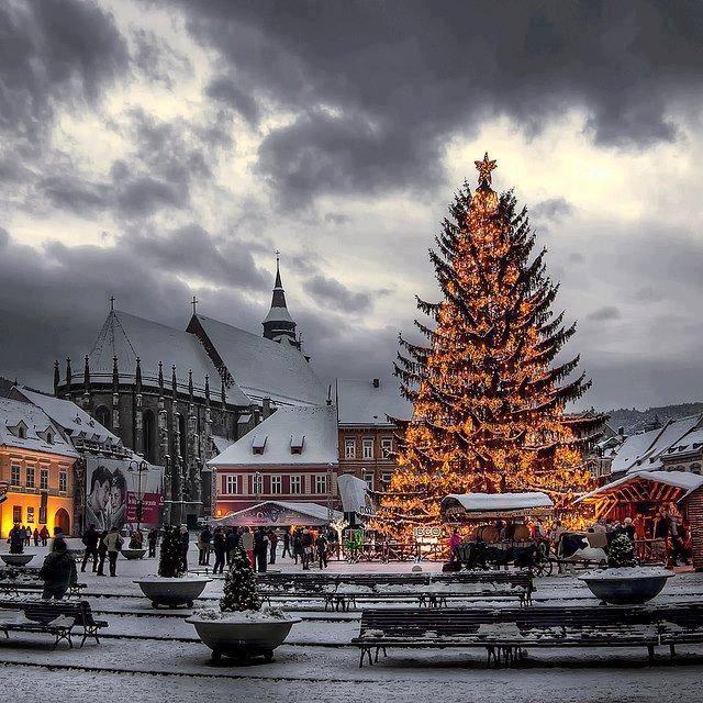 Brasov square, Romania