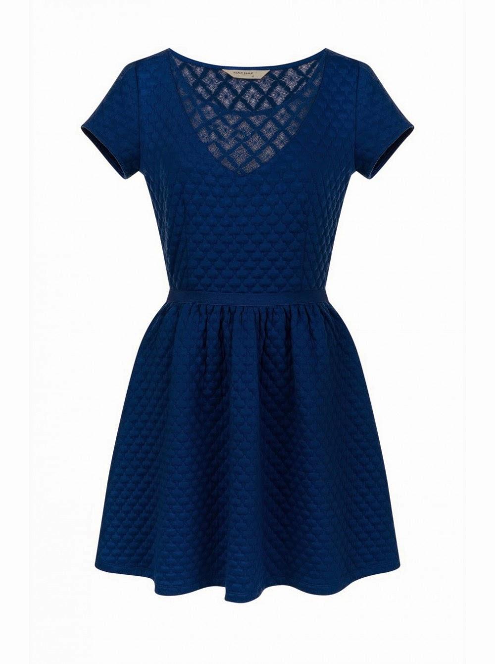 robe bleu naf naf