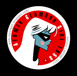 "Badge ""Atomik Glamour Girl 1958"""