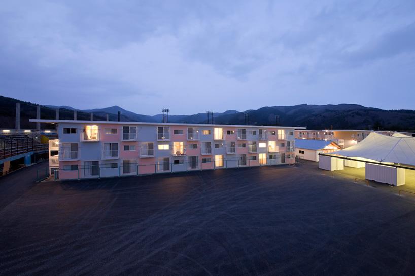shipping container homes shigeru ban onagawa japan