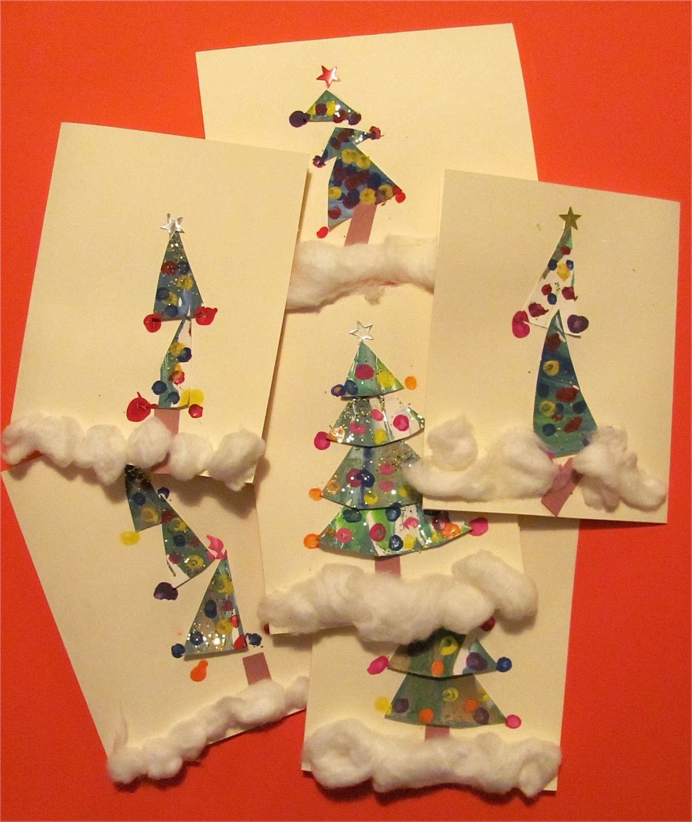 The Chocolate Muffin Tree: Spin Art Christmas Tree Cards