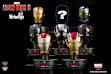 Pre Order Deluxe Helmet Series DHS001-008 - Iron Man 3 - 1/5th Scale Series 1 (Set of 8)