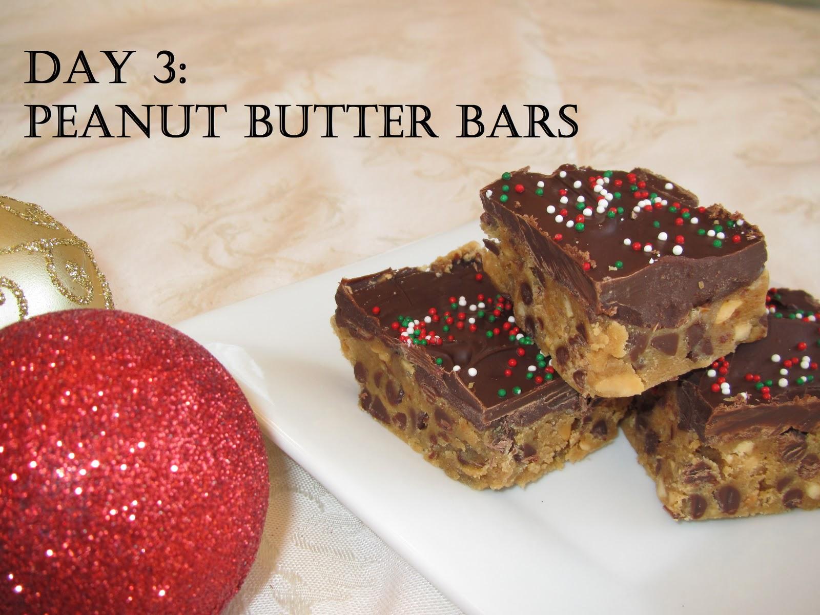 Pammi Cakes Recipes: Day Three: Peanut Butter Bars Recipe