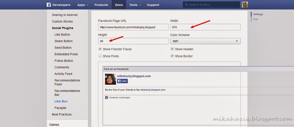 tutorial letak facebook fan box di blogger