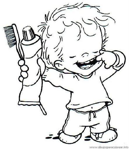 Imagen de hábitos de higiene para colorear - Imagui