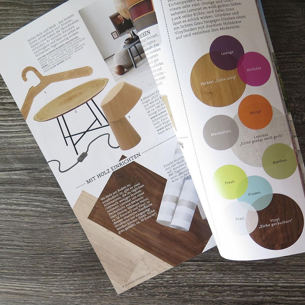 magazine design autumn colors