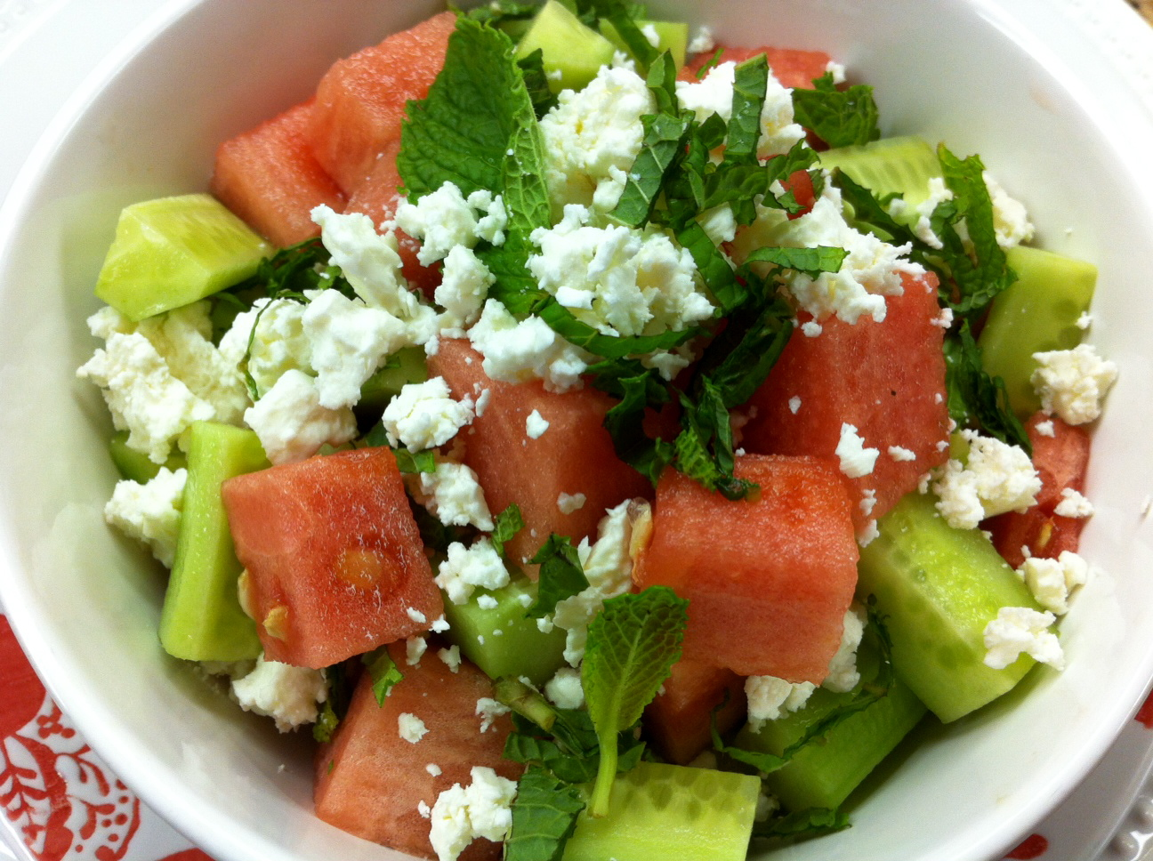 watermelon and feta salad tomato watermelon salad with feta and