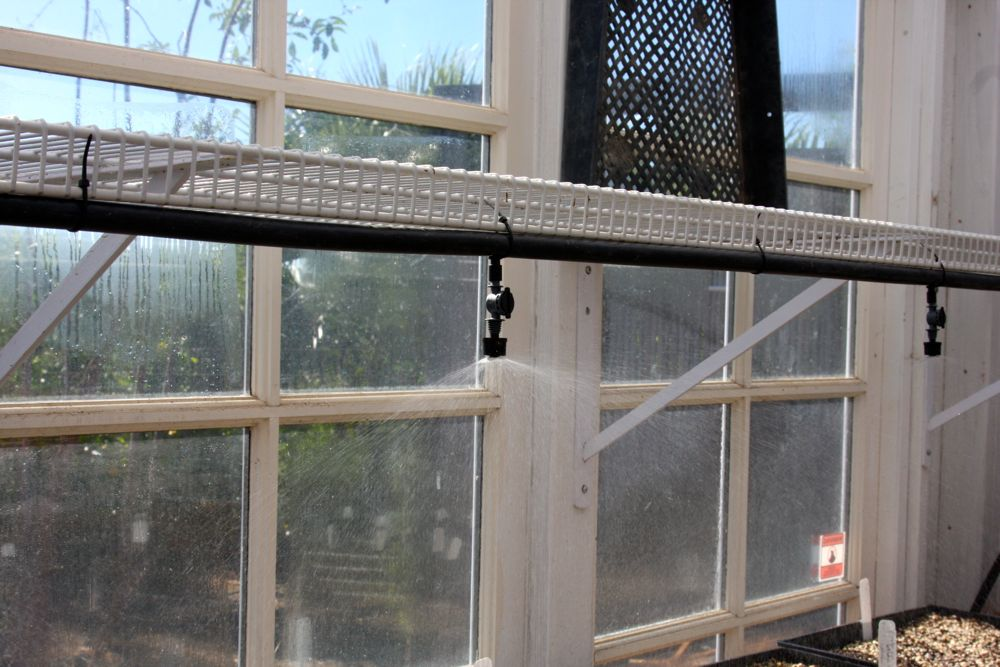 Greenhouse Misting System : Installing an automated greenhouse misting system