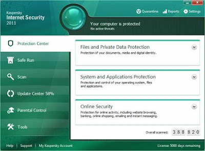 Kaspersky Internet security 2011 + 2038 Days Patch - Mediafire
