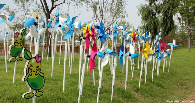 Molinillos en la Expo de Jardines de la Bahía Suncheonman