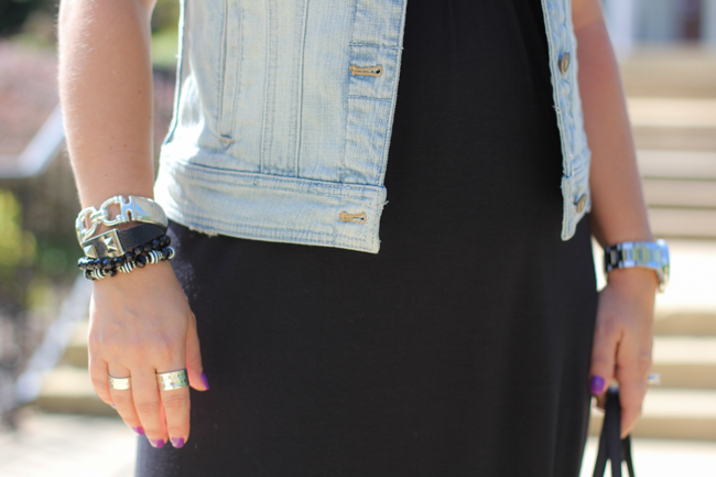 Denim Vest and Arm Candy