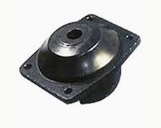 cushion foot mountings for automobiles