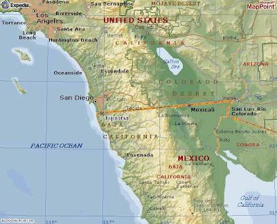 Ensenada Mapa Político Región