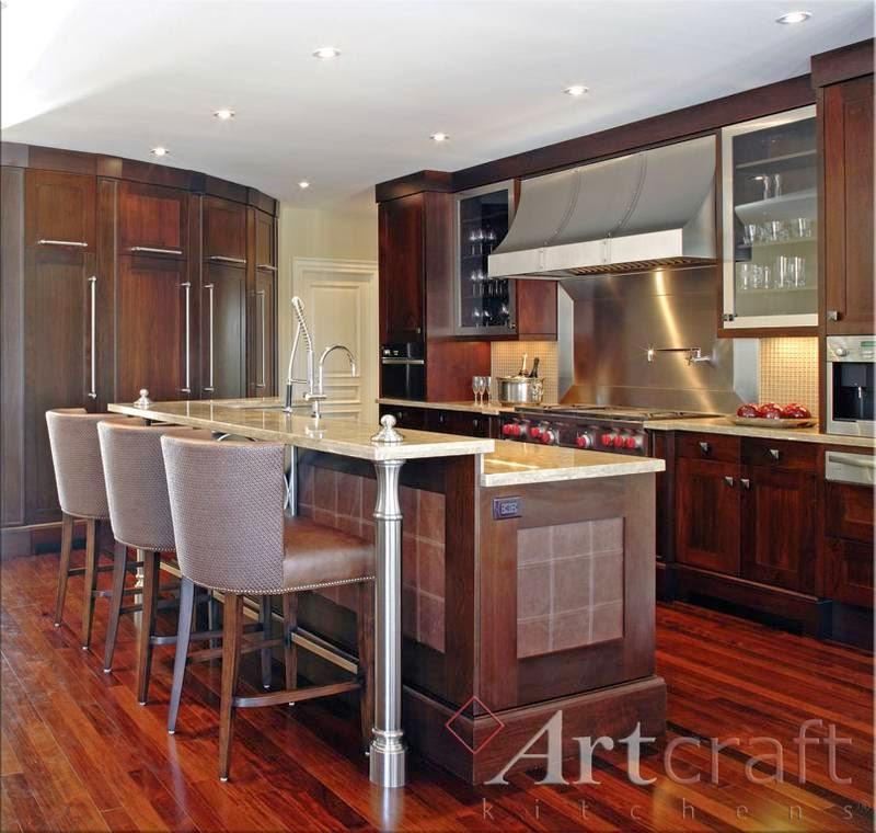 arquitectura de casas cocinas americanas exquisitas de