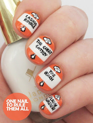 Penguin Books Nail Art