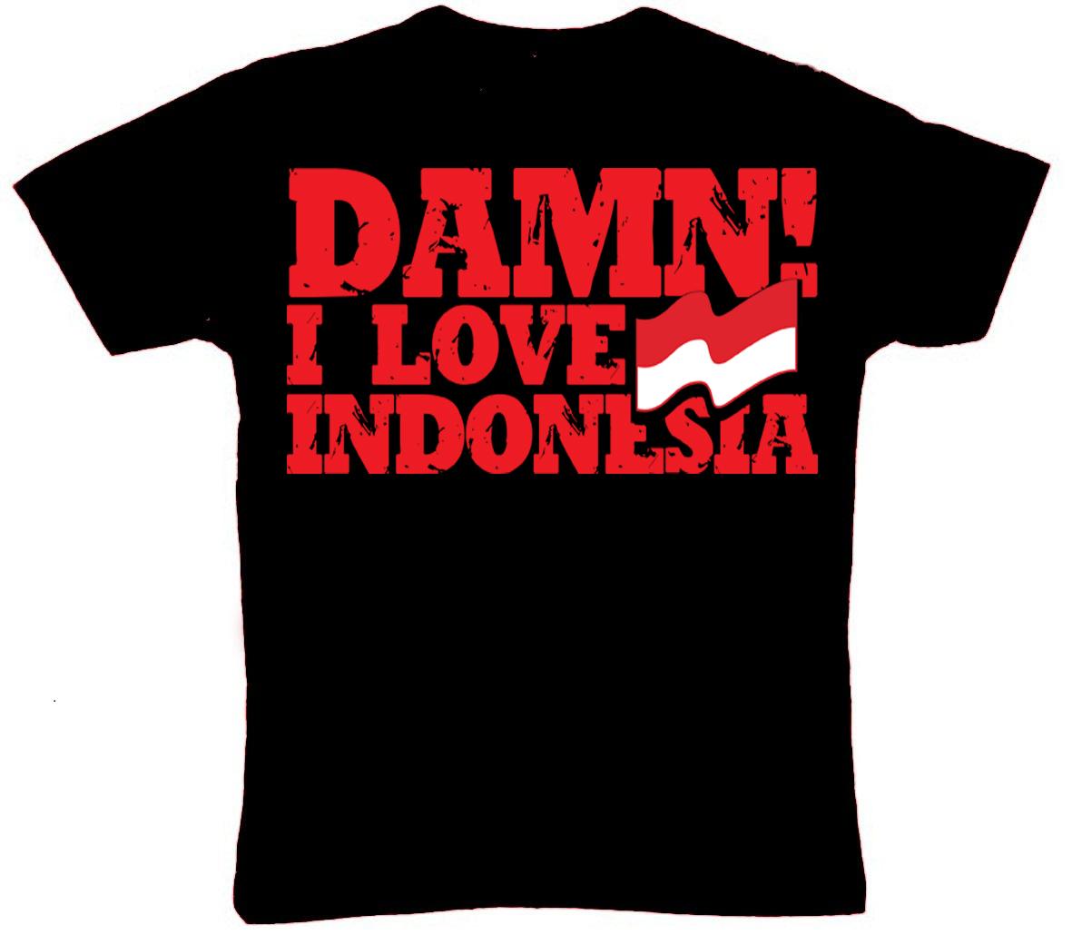 """Baju Damn I Love Indonesia """"Putih dan Hitam"""""""