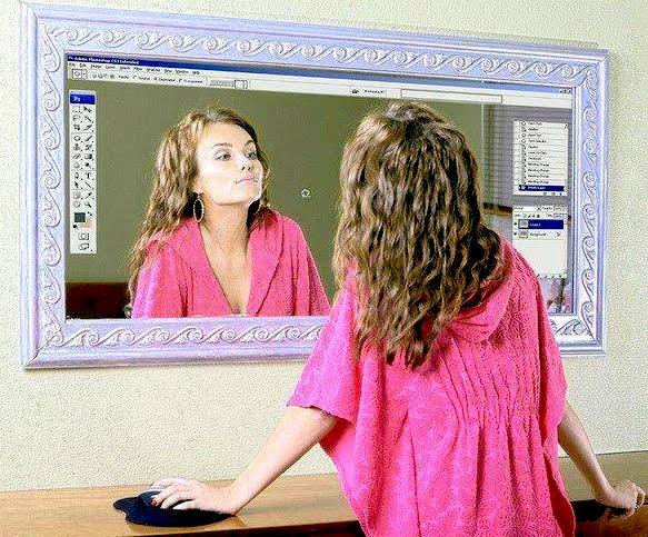 Jack aime jack n 39 aime pas miroir photoshop for Outil miroir photoshop