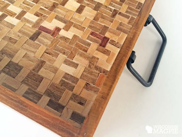 popsicle stick project DIY tray