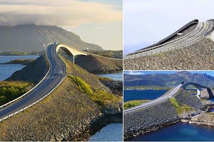Keunikan 'Jembatan Mabuk' di Norwegia