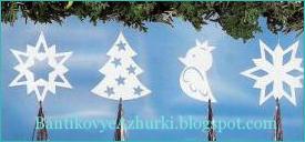 Фигурки из бумаги для новогоднего декора своими руками