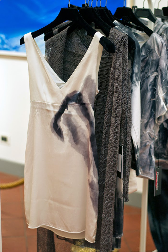 abito seta dipinta