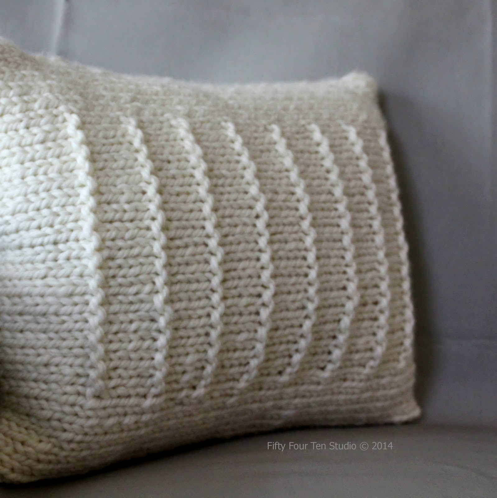 Knitting Pillow Pattern : Fifty four ten studio knitting with super bulky yarn