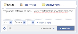 programar estados facebook