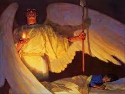 Sob a proteção do meu anjo da guarda e de São Miguel Arcanjo!