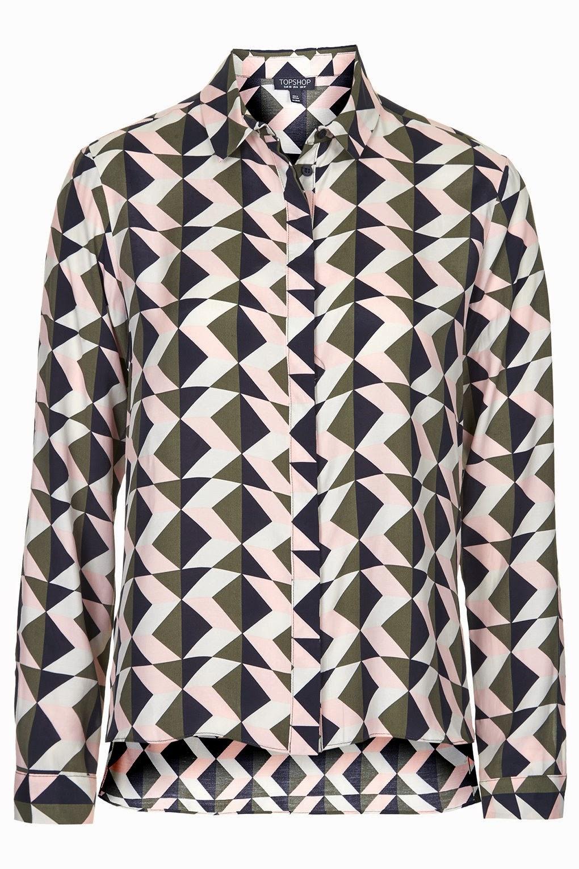 triangle print shirt women