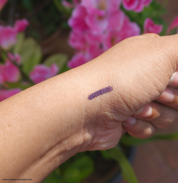review and swatches of faces canada long wear eye pencil in purple